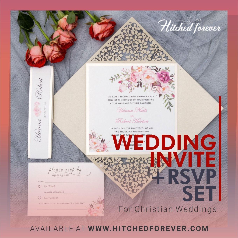 Wedding Invite RSVP Set Indian wedding invitation cards