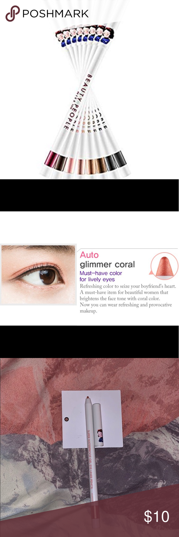 Miss 100 Super Waterproof Gel Eye Liner Pencil Gel Eyeliner Eyeliner Pencil Eyeliner