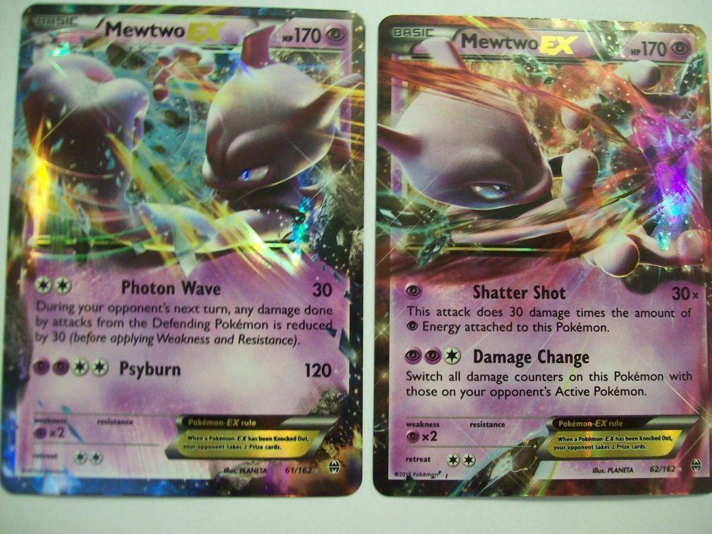 Mewtwo ex 61162 62162 xy breakthrough ultra rare