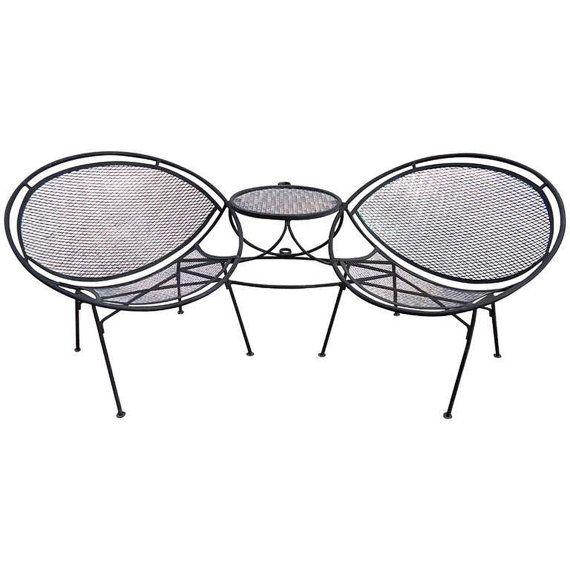 On hold Salterini Hoop Tete a Tete Mid Century Patio Radar Chairs ...