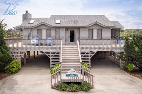 Inn Jeopardy! Kitty Hawk (North Carolina) Situated in Hargraves Bench, this holiday home is 24 km from Nags Head. The property is 2.7 km from Duck and features views of the pool.  The unit fitted with a kitchen with a dishwasher and oven. A TV is available.