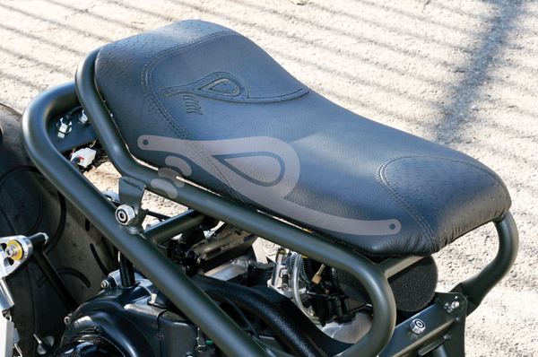 Custom Leather Seat For Honda Ruckus Custom MotorcycleScooter - Best custom vinyl decals for motorcycle seat