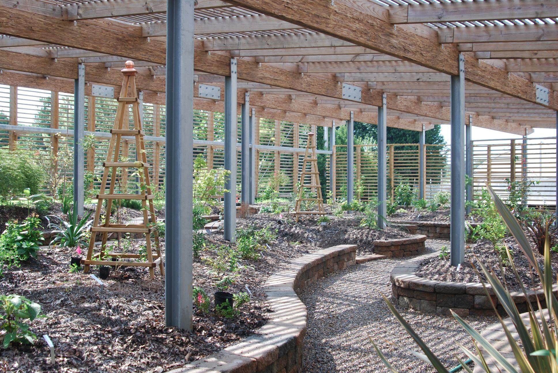 Lath House Interior Shade House Pergola Garden Design Backyard shade house designs