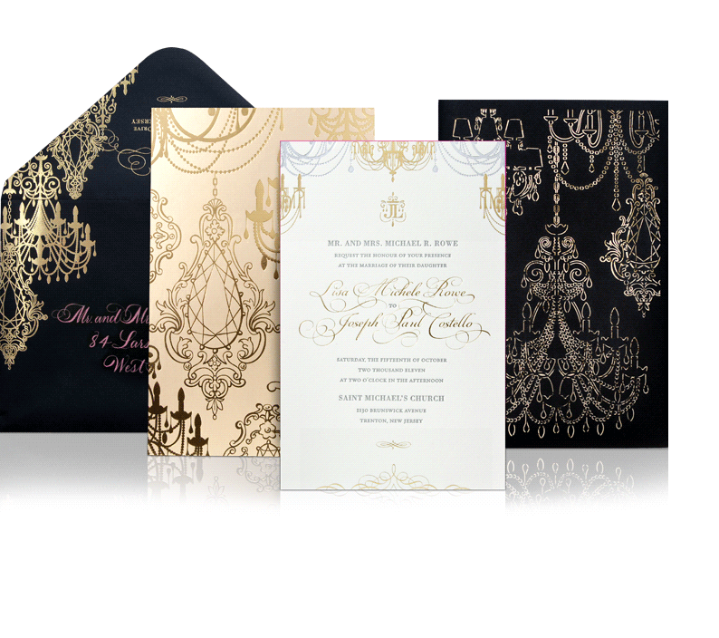 Glamorous Wedding Invitation Ideas Discerning Brides Modwedding 2   Best Free Home Design Idea U0026 Inspiration