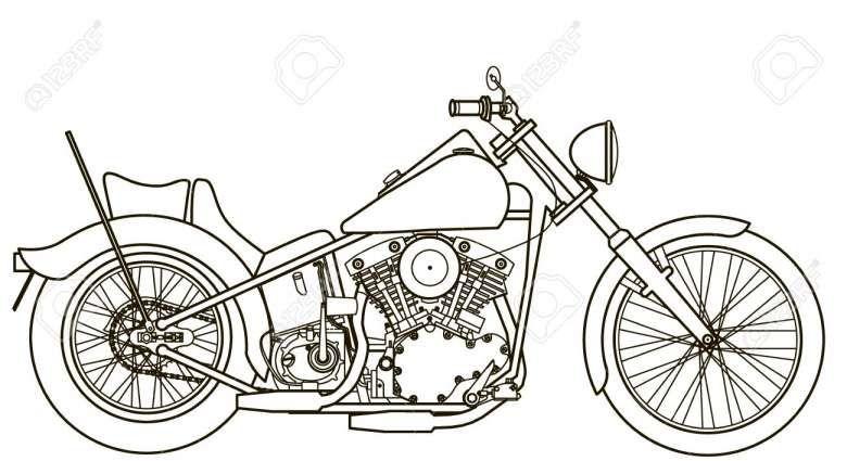 17 Motorcycle Drawing Images Dengan Gambar Sketsa