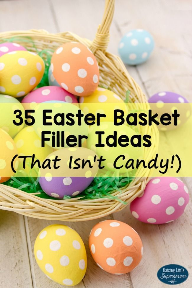 35 easter basket filler ideas that isnt candy easter 35 easter basket filler ideas that isnt candy sometimes the easter bunny needs a little help filling those baskets check out these great alternatives negle Image collections