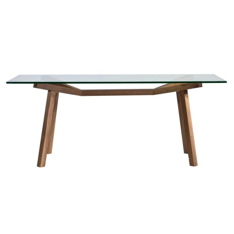 Sean Dix Forte Rectangular Glass Dining Table As Used In Simon