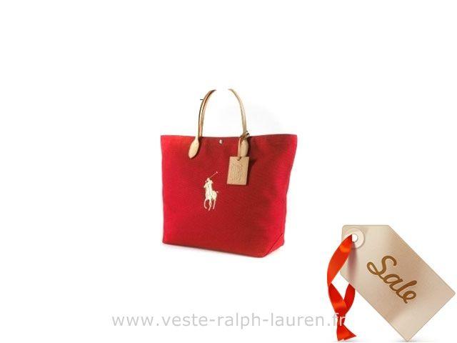 Ralph Lauren sac mode sacoche loisir mode red white Sacoche Polo