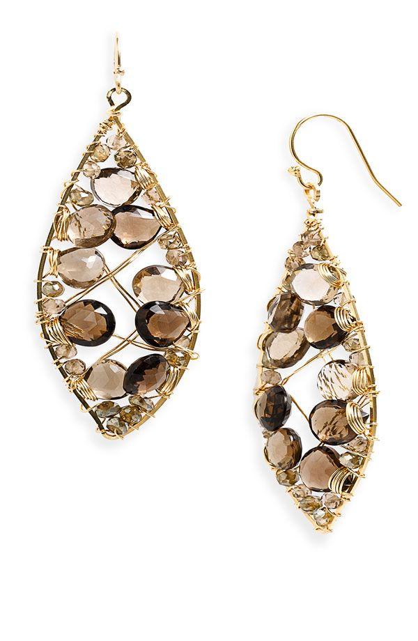 NuNu Designs Marquise Wire Wrap Earrings on www.nordstrom.com ...