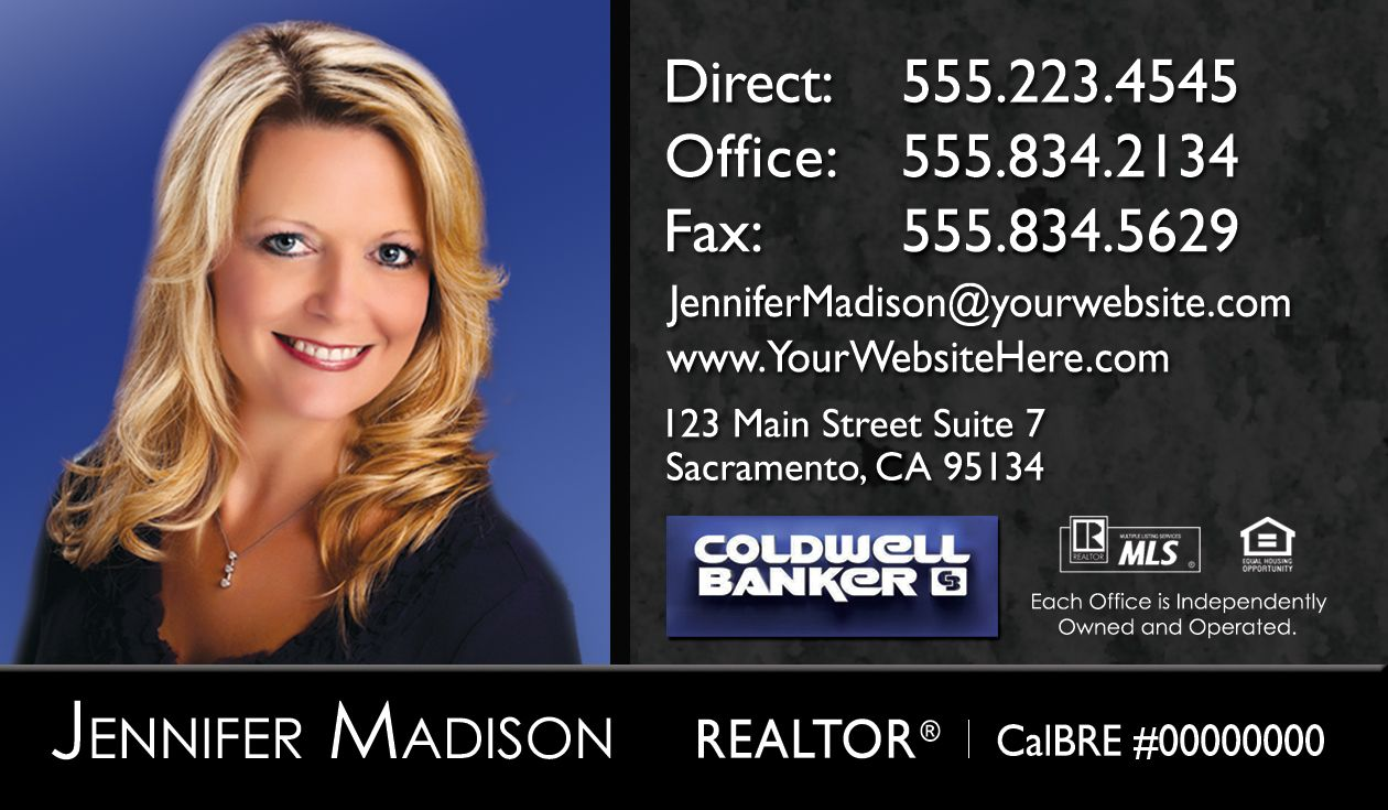 New Coldwell Banker real estate business card design with headshot ...