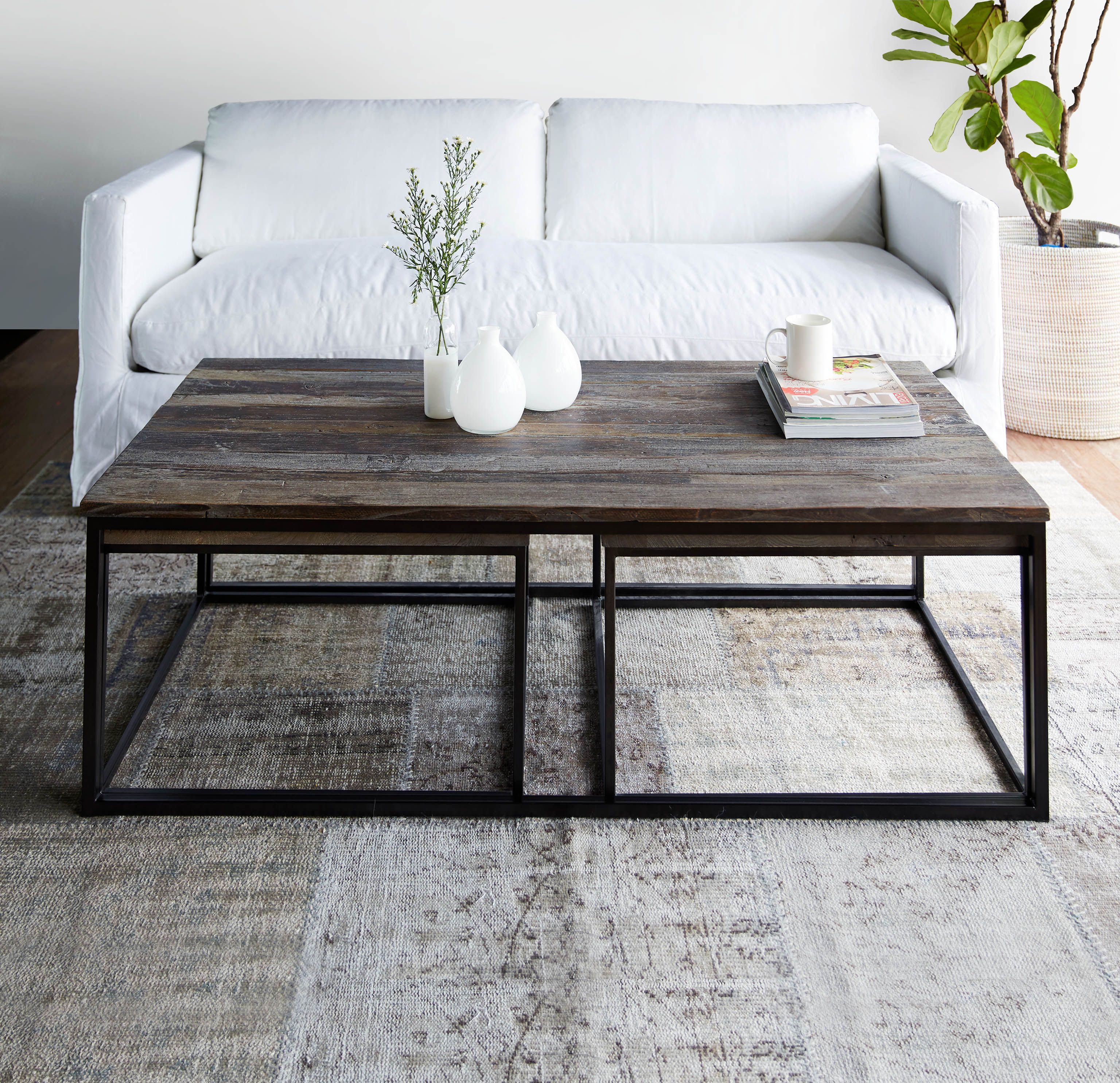 Prato Coffee Table Square Nested Coffee Table Living Room Coffee Table Home Coffee Tables [ 2970 x 3072 Pixel ]