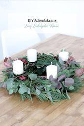 DIY Eukalyptus Kranz & Adventskranz ⋆ Elfenweiss- DIY Eukalyptus Kranz & Adventskranz…