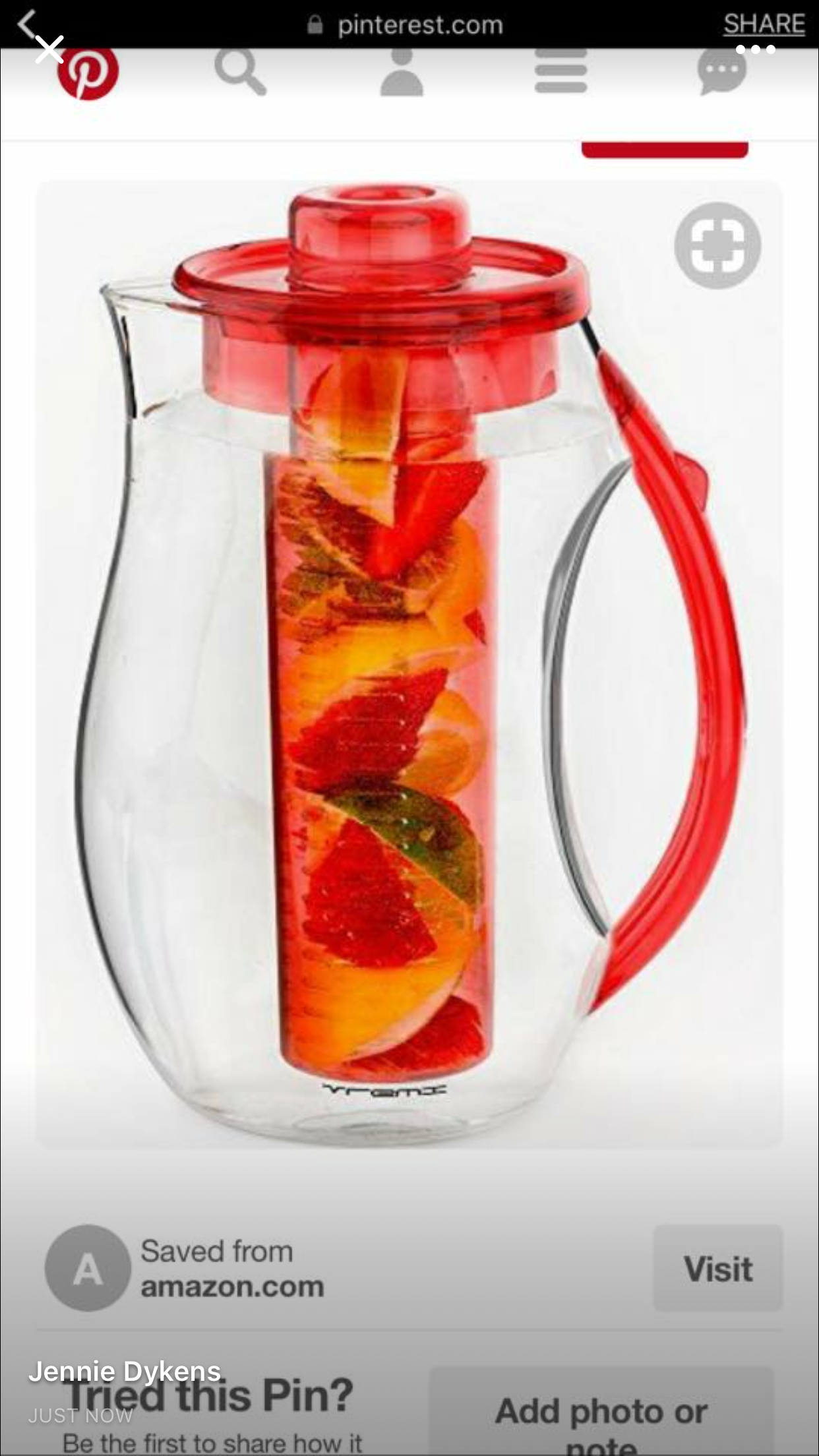 Pin by Tyler on Amazon Fruit infused, Infusion pitcher