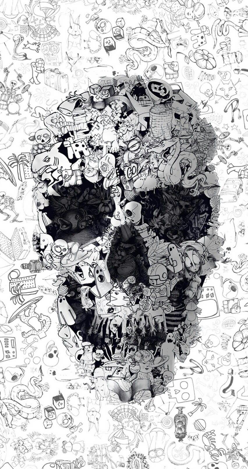 Ultimate Skull Skull Wallpaper Graffiti Wallpaper Wallpaper Doodle