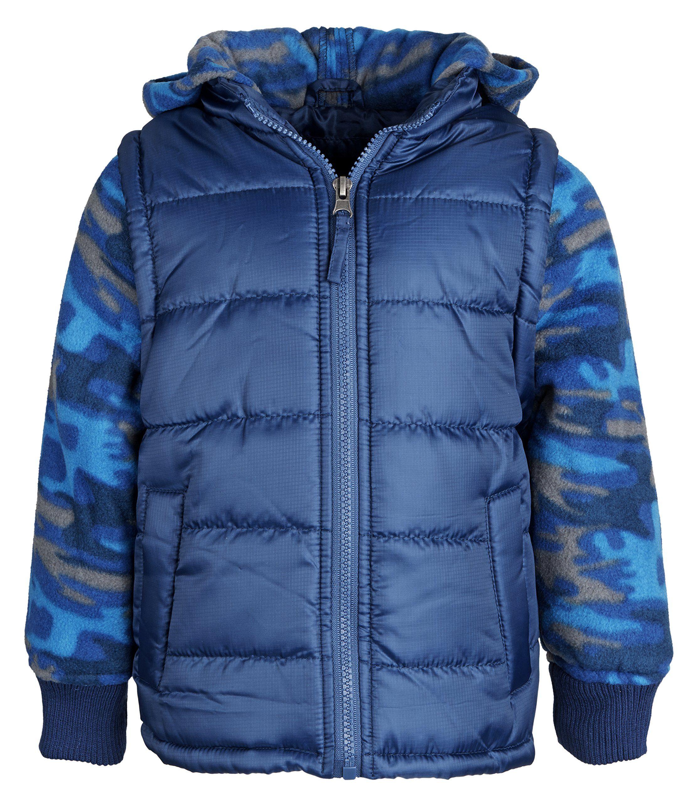 BLACK iXtreme Toddler Boys/' Camo Print Snowsuit