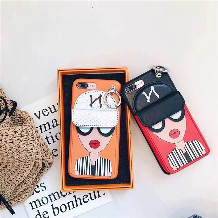 e7b3c2e2884 Fashion brand design Cute Korean Glasses red lips Girl Silicone case for  iPhone  iphone
