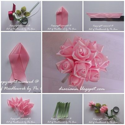 Diy silk ribbon rose simple way ribbon rose creativity and silk diy silk ribbon rose simple way mightylinksfo Images