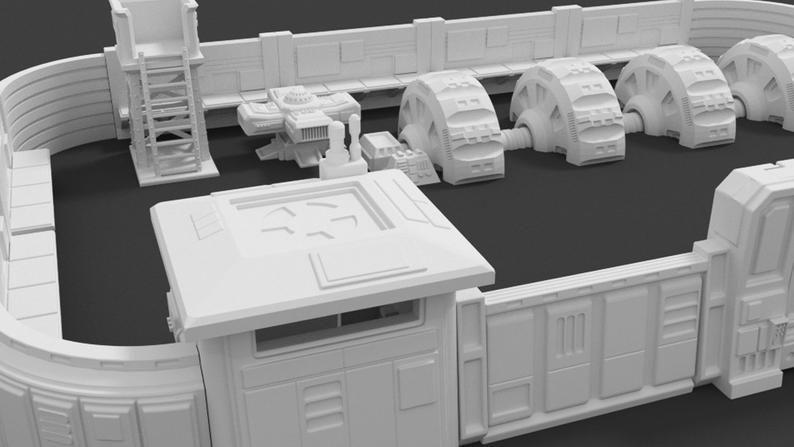 3D gedruckte Miniaturen 3D gedruckten Gelände