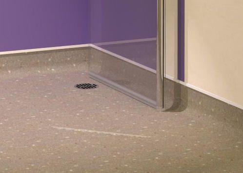 Foldaway hinged wet room screens for vinyl flooring with for Wet room vinyl flooring