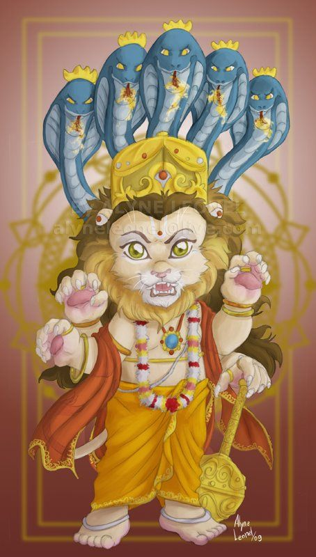 Image result for narasimha god