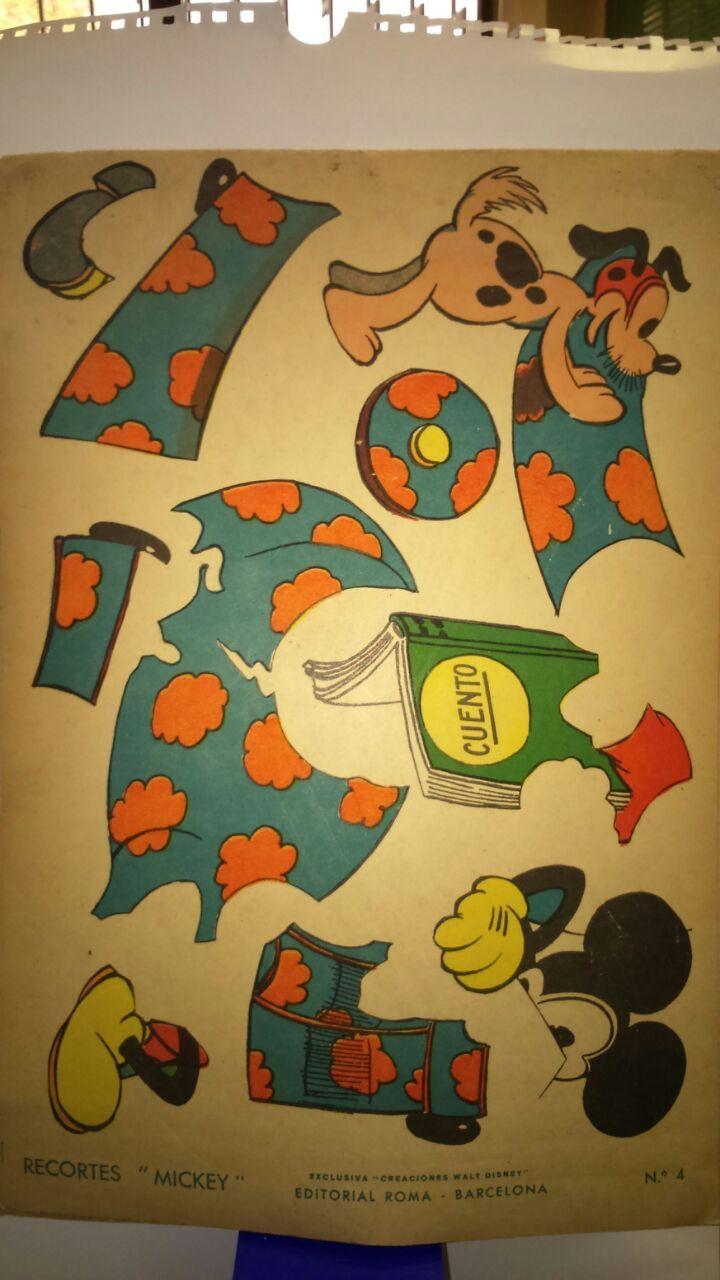 recortable con personajes de Disney de principios de los años ...