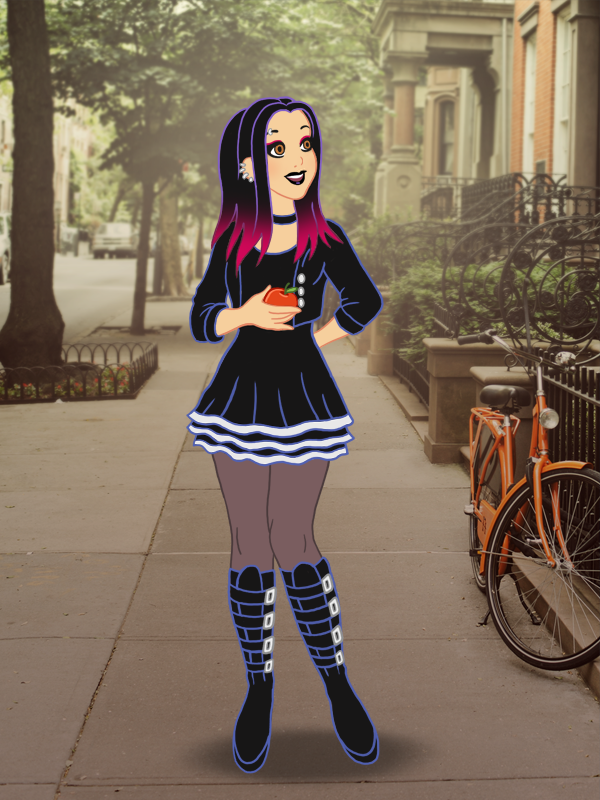 It's Snow White's first day in Brooklyn. I gave her a hipster makeover!  What am I doing with my life