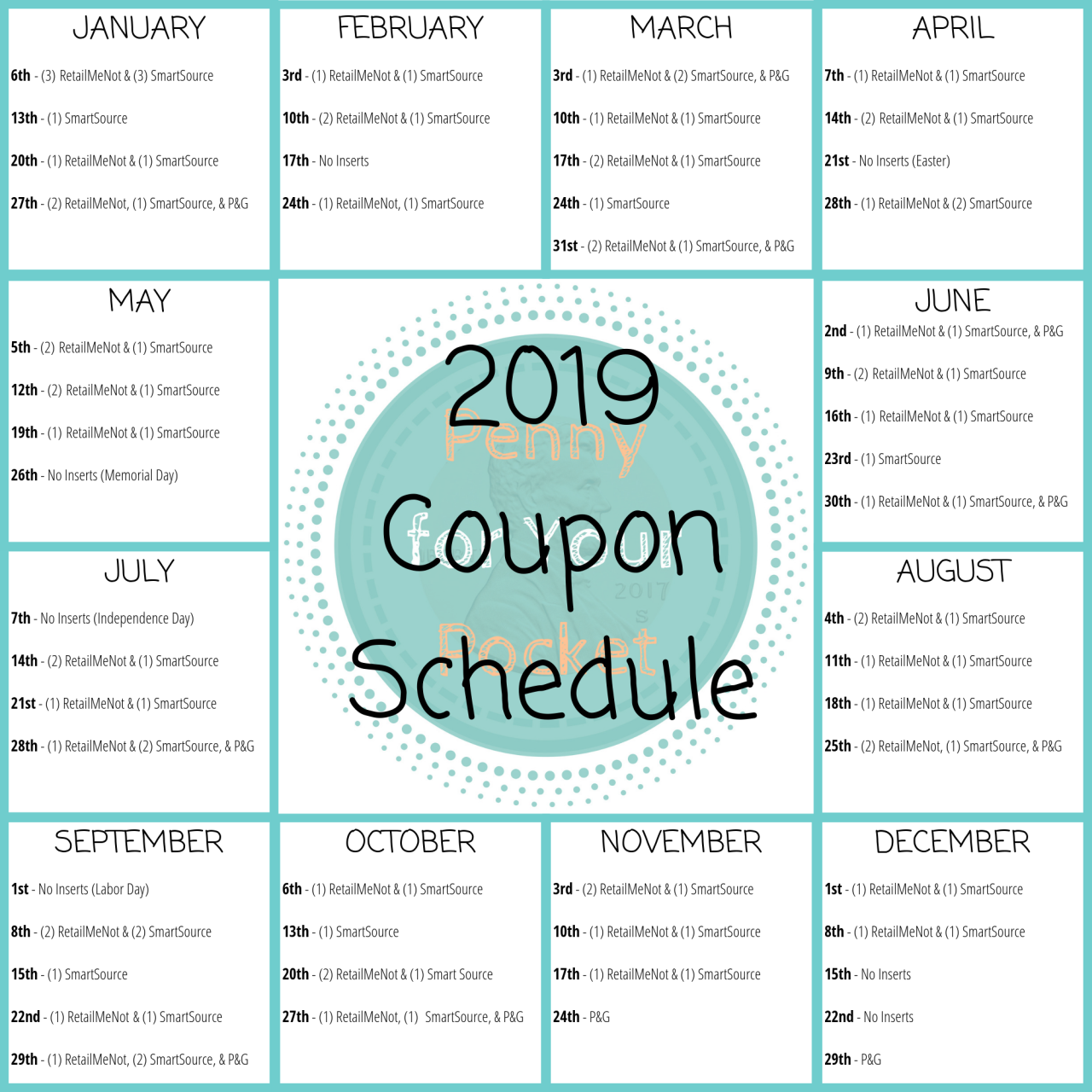 2019 Coupon Insert Schedule Don T Miss Any Of The Sunday Paper Coupon Inserts In 2019 Use This 2019 Sunday Coupon Coupon Inserts Sunday Paper Coupons Coupons