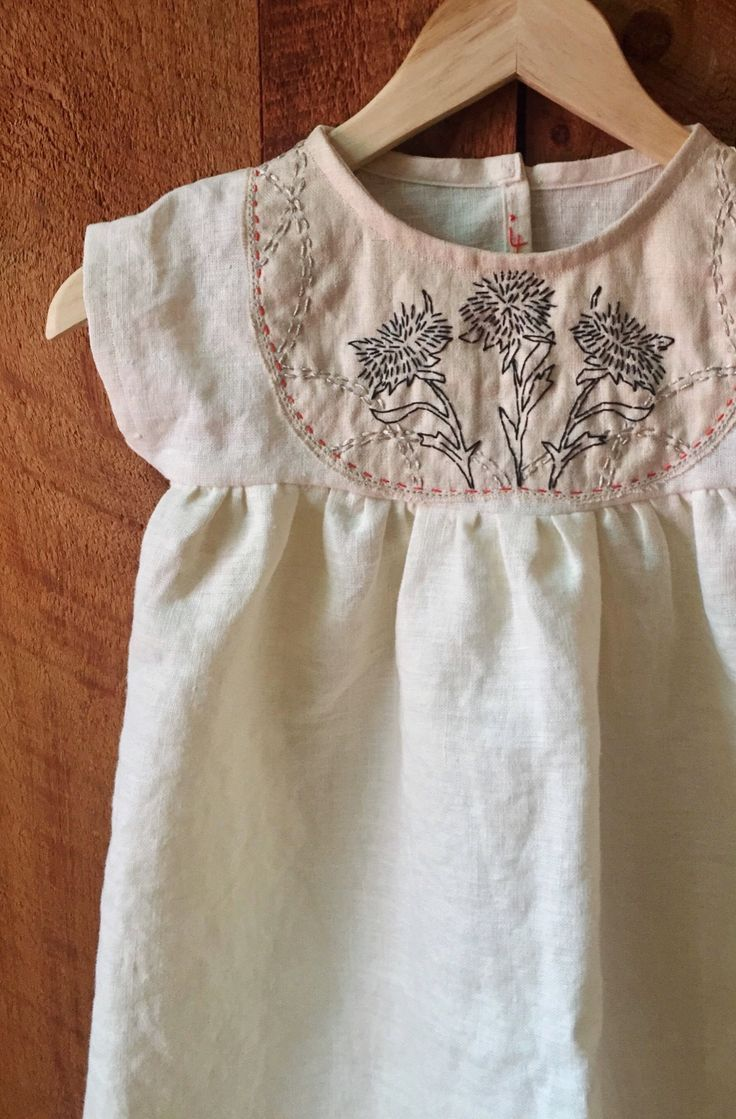 79248a10997f Handmade Linen Dress With Hand Embroidery | ZoeLoomisHandmade on Etsy