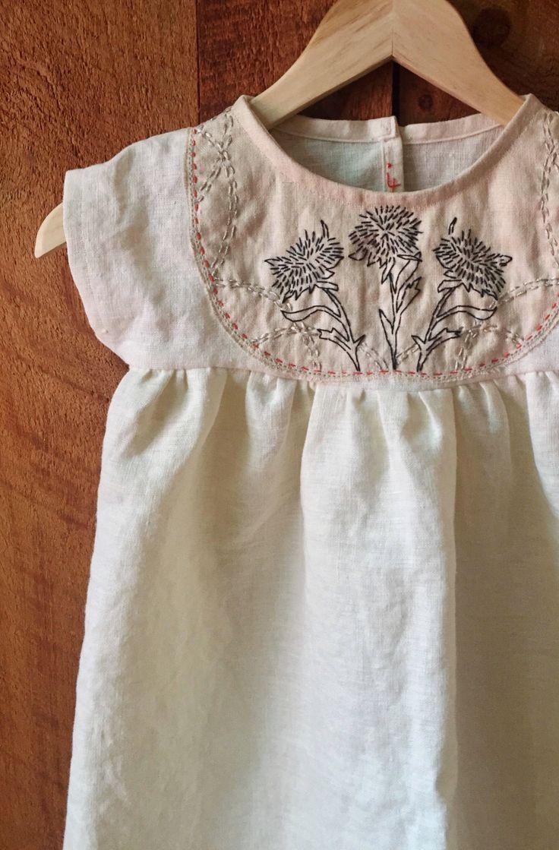 79219eeb2ab2 Handmade Linen Dress With Hand Embroidery