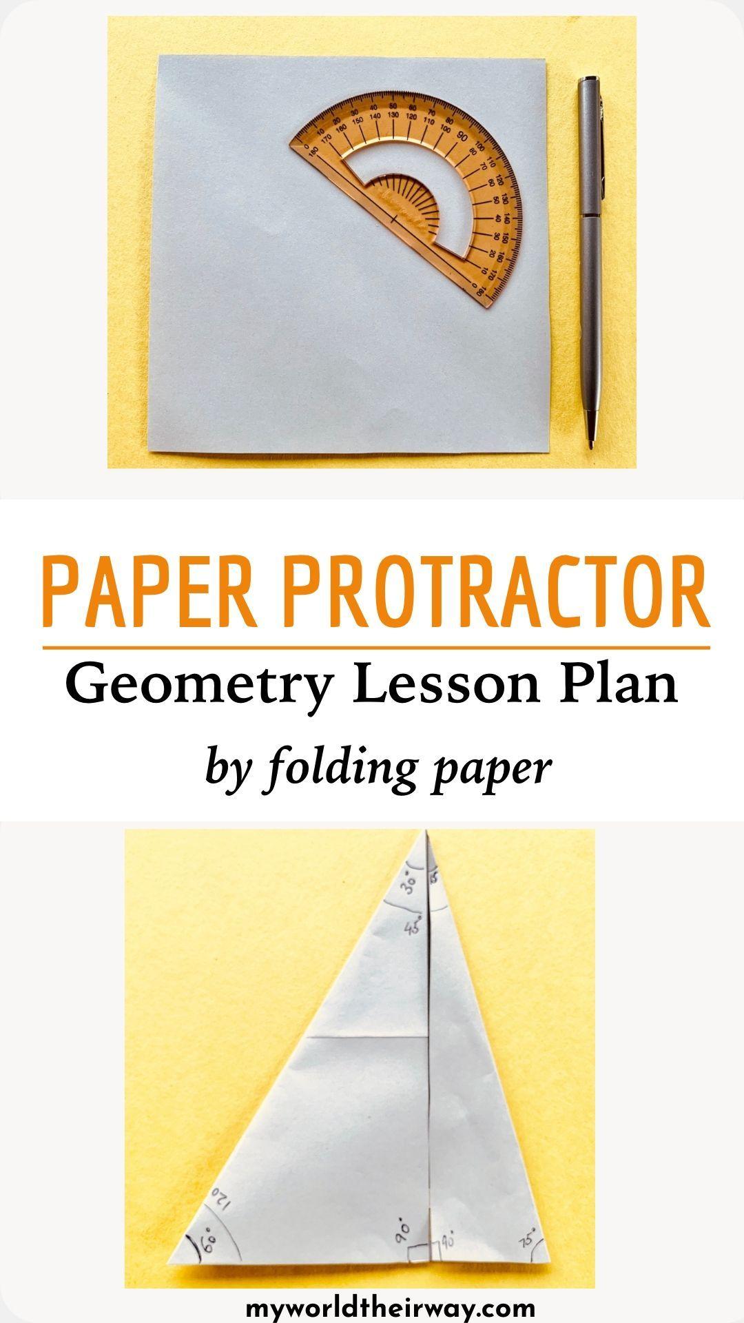 Diy Paper Protractor In
