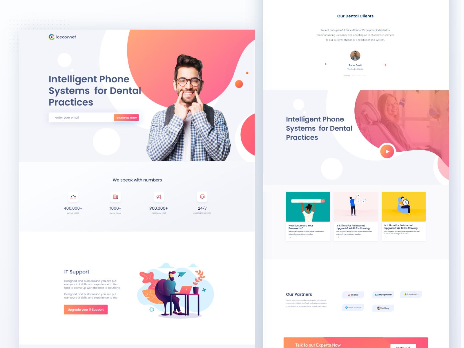 SAAS for Dental Webdesign in 2020 Web design, Saas