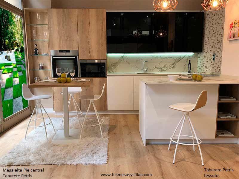Moderno Mesa Alta Para Cocina Ideas Ornamento Elaboración Festooning ...