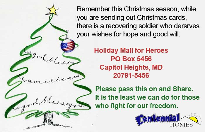 Address To Send Christmas Cards To Wounded Soldiers Holiday Mail