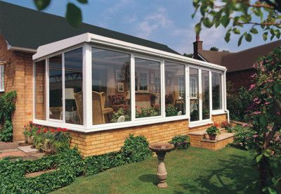 Vinyl Sunroom Addition With Solid Roof For The Home