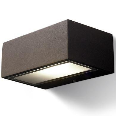 Aplique Pared Exterior Rectangular Rústico Marrón Óxido | Lámparas ...