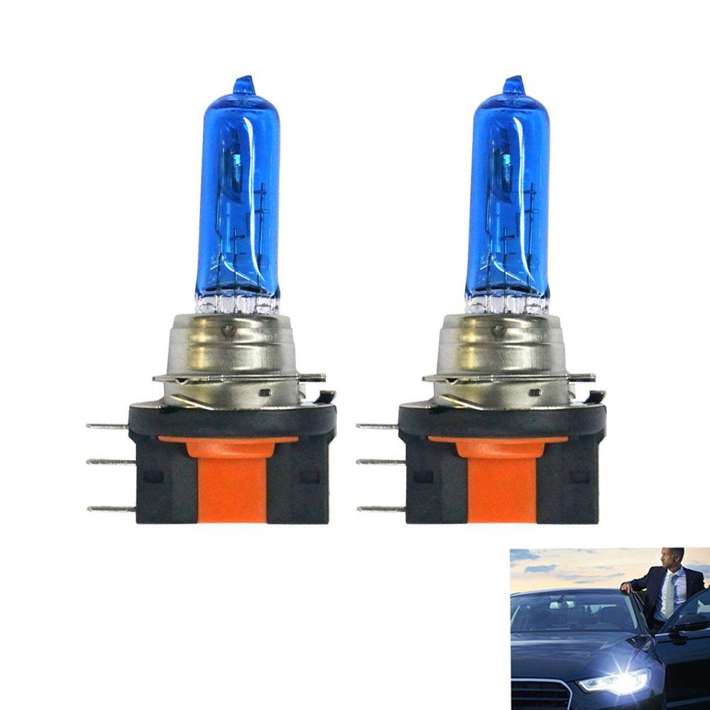 2pcs H15 12v 15 55w 6000k Car Super White Lighthalogen Bulbs Halogen Lamp Dark Blue Glass Free Shipping Volkswagen Amarok Golf Halogen Lamp Bulb Blue Glass