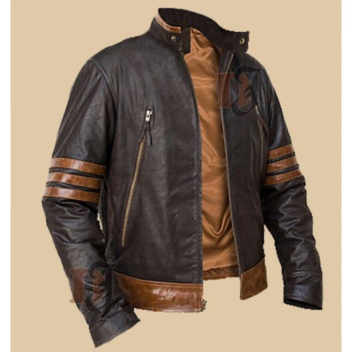 Replica X-Men Origins Wolverine Brown Biker Jacket | c&f&w | Pinterest