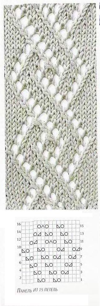 Patrón de tejer: las espirales de diamantes ~ estos son dos ...
