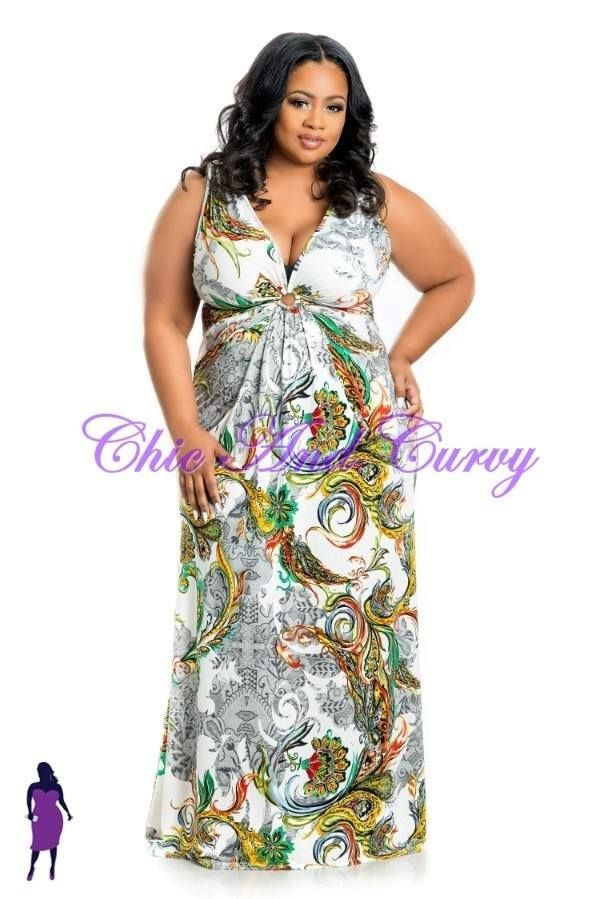 New Arrivals at Chic And Curvy - Plus Size Long Maxi Dress with ...