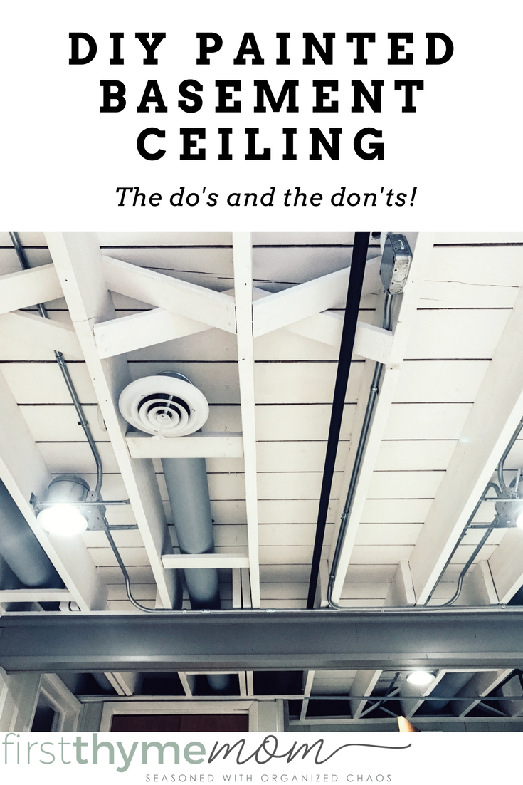 Sep 2 DIY Painted Basement Ceiling Project | DIY and ...