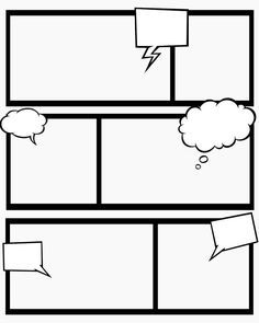 7 best images of comic book templates printable free printable comic strip paper comic strip template printable and blank comic book strip template - Cartoon Template Printable