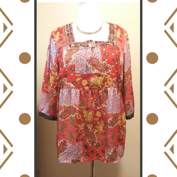Boho Top By Avenue Boho Yop By Avenue. Gently worn. This is a reposh that I bought for my daughter but it didnt fit her yhe way she wanted it to. Her loss is your gain! Make me an offer. Avenue Tops
