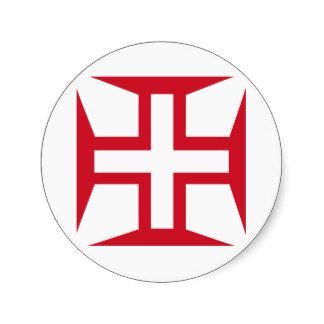 Knights Hospitallers of the Cross and Star | Cross of the Order of Christ Stickers