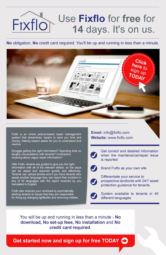 New mailer design for Fixflo by Angels Media! #Landlords #Repairs #Property