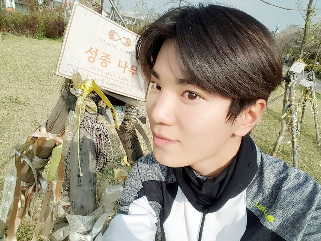 """160414 #Sungjong """"인스피릿 사랑으로 무러무럭 잘자라는 성종나무♡"""""""