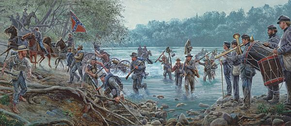 "| Potomac Crossing, June 25, 1863 [by Mort Künstler] ""Maryland, My Maryland"""