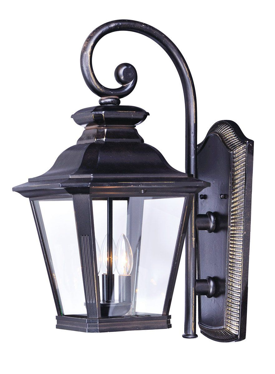 Maxim lighting 1135clbz knoxville 3 light 19 inch bronze outdoor wall sconce