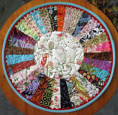 Dresden Circular Mini Quilt  This Would Make A Nice Play Mat For Babies Who  Aren