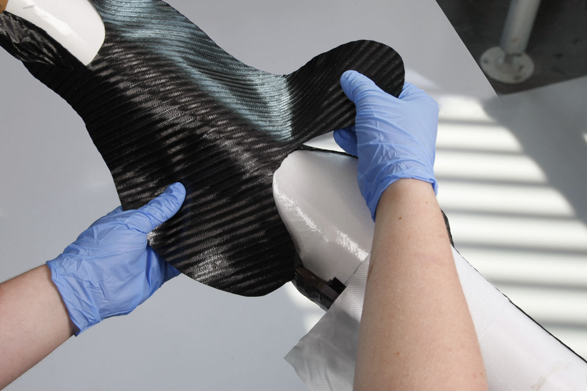 Umeco carbon fibre prepreg being used in blade manufacture