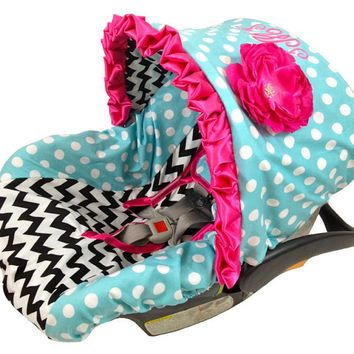 Infant Car Seat Cover, Baby Car Seat Cover including matching neck